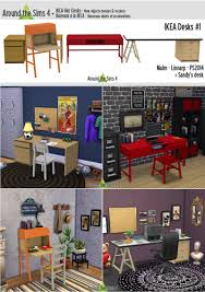 around the sims 4 custom content download objects ikea desks