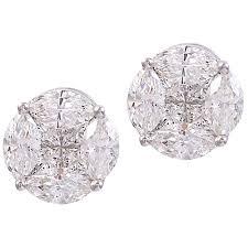 diamond illusion set earrings jeri cohen jewelry