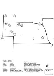 Nebraska Map Nebraska Countries Cultures Nebraska Map Worksheet Coloring Pages