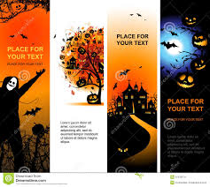 halloween banners vertical for your design royalty free stock