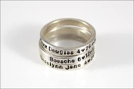 name rings stackable rings personalized silver ring christmas gift