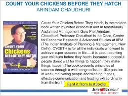 Count Your Chickens Before They Hatch Arindam Chaudhuri Pdf Just Books Clc Self Help Collection Part 1