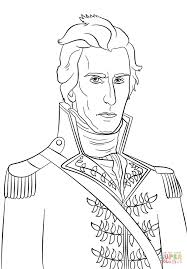 president andrew jackson coloring page free printable coloring pages