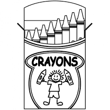 crayons coloring page box of crayons and two crayons coloring page