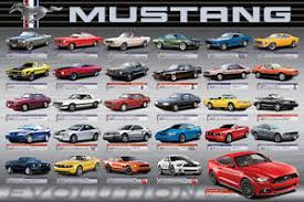 ford mustang history timeline ford mustang 50th anniversary evolution history of