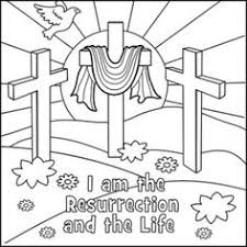 easter cross coloring page sunday pinterest easter