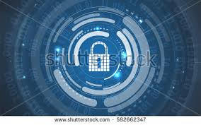Conceptmodern Technology Security Concept Modern Safety Digital Stock Vector