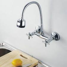 wall mounted kitchen faucet awesome wall mount kitchen faucet with sprayer on home remodel
