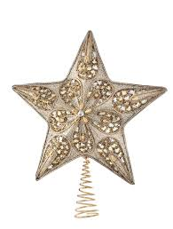 Walmart Christmas Decorations And Trees by Ideas Silver And Gold Beaded Star Tree Topper For Christmas