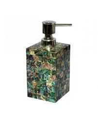 Green Mother Of Pearl Soap Dispenser Soap Dispenser Bathroom