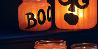 halloween cover photo pumpkin jar lights