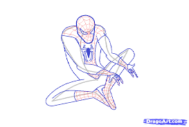 draw amazing spiderman step step drawing sheets added