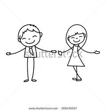 valentines day two people love holding stock vector 68546989