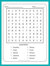 word search nationalities printable places in a city wordsearch puzzle vocabulary worksheet icon esl
