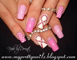 breast cancer nails pink nail designs tutorial youtube breast