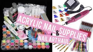 acrylic nail supplies u0026 nail art haul doing my own nails at