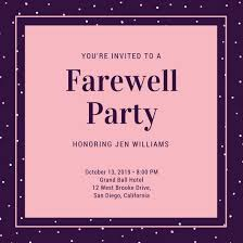farewell party invitation template printable diy vase retirement