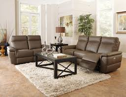 Power Reclining Sofa Set Echo 3pcs Modern Brown Real Leather Power Recliner Sofa Set