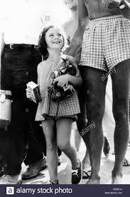 caroline kennedy children young caroline kennedy escorted by a gman on vacation stock photo