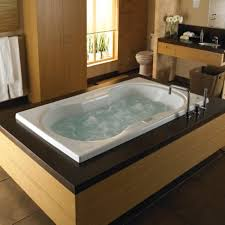 charming tiny square jacuzzi tub mixed with beautiful flower