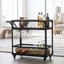 Industrial Kitchen Cart by Belham Living Trenton Bar Cart Espresso Hayneedle