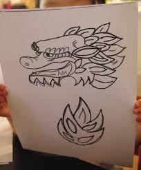 chinese new year craft handprint dragon puppet baa baa beep