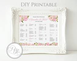 Wedding Seat Chart Template Dusty Pink Peonies Wedding Invite Rsvp Save The Date Menu