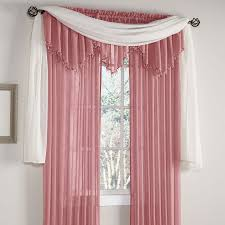 crushed voile rod pocket panel scarf u0026 valance curtains