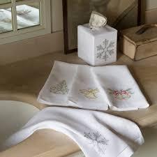 Holiday Bathroom Accessories by Sferra Bath Towels Holiday Bath Collection Bella Lino Ltd In