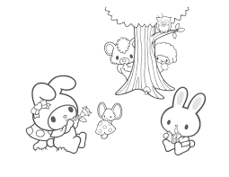 my melody coloring picture