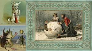 images of victorian christmas cards frog murder and boiled children merry christmas victorian style