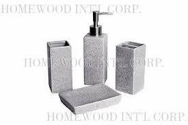 Grey Bathroom Accessories by Taiwan Bath Accessories Ceramic Bathroom Set Imitation Stone