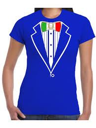 Flag Suit Tuxedo T Shirt Italian Flag Ladies Italia Football Rugby Stag Hen