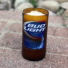 Bud Light Aluminum Bottle Scented Soy Candle Made From A Repurposed Bud Light Beer
