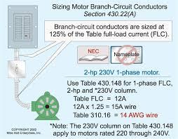 motor calculations part 1 motors and branch circuit conductors