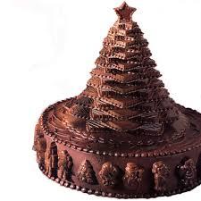 christmas chocolate chocolate christmas tree cake wilton