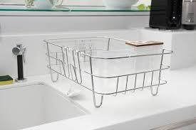 Under Cabinet Dish Rack The Best Dish Rack Wirecutter Reviews A New York Times Company