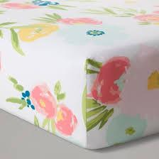 Pink And Aqua Crib Bedding Crib Bedding Set Floral Fields 4pc Cloud Island Pink Mint