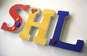 Superman Bedroom Decor by Custom Decorated Wooden Letters Superman Theme Nursery Decor