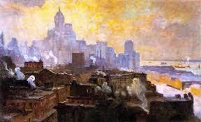 a painter a painter drawn to the u201cmountains of manhattan u201d ephemeral new york