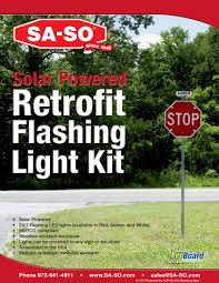 Solar Led Light Kit by Sa So Traffic Safety And Facility Products Solar Powered