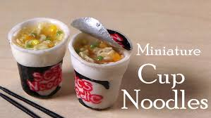 Miniature by Miniature Cup Noodles Instant Noodles Polymer Clay Tutorial