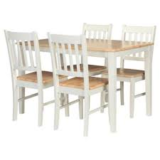 Buy Essen Rubberwood Dining Table   Chairs White  Natural From - Rubberwood kitchen table