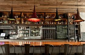 awesome modern bar design come with brown gray colors counter