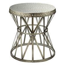 Metal Drum Accent Table Drum Tables Accent Tables Bellacor