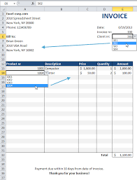 Excel Invoice Template 2010 Automated Invoice In Excel Easy Excel Tutorial Resume Templates