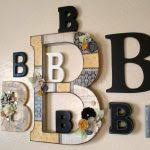 Monogrammed Home Decor Wall Decor Good Letters Decoration For Walls Letter Decorations