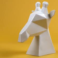 Giraffe Planter Gerard The Giraffe White Ceramic Animal Bust Modern