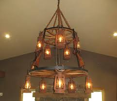 Wagon Wheel Home Decor Wagon Wheel Chandelier With Rifle Western Theme Lc720 Rustic
