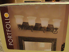 Shop Portfolio Paces 4 Light - portfolio vanity lighting wall fixtures ebay